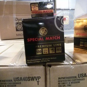 Picture of 22 LR RWS SPECIAL MATCH 40 GRAIN RN (50 ROUNDS)