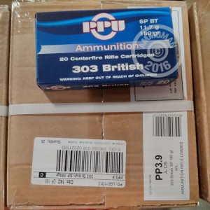 Picture of 303 BRITISH PRVI PARTIZAN 180 GRAIN SP (20 ROUNDS)