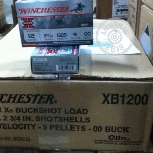 """Picture of 12 GAUGE WINCHESTER SUPER-X 2-3/4"""" 00 BUCK (5 ROUNDS)"""