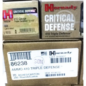 "Picture of 410 BORE HORNADY CRITICAL DEFENSE 2-1/2"" FTX SLUG (20 ROUNDS)"