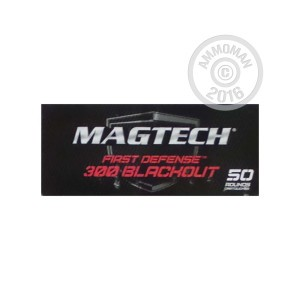 Picture of 300 AAC BLACKOUT MAGTECH FIRST DEFENSE 123 GRAIN FMJ (50 ROUNDS)
