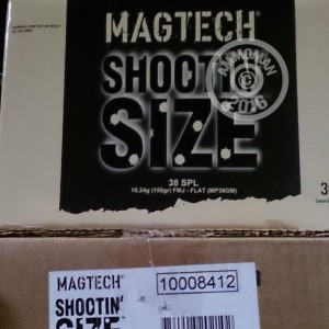 Picture of 38 SPECIAL MAGTECH SHOOTIN' SIZE 158 GRAIN FMJ-FN (300 ROUNDS)