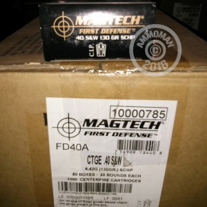 Picture of .40 S&W MAGTECH FIRST DEFENSE 130 GRAIN SCHP (20 ROUNDS)