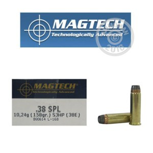 Picture of 38 SPECIAL MAGTECH 158 GRAIN SJHP (1000 ROUNDS)