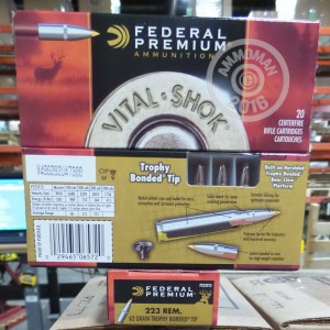 Picture of 223 REMINGTON FEDERAL VITAL-SHOK 62 GRAIN TROPHY BONDED TIP (20 ROUNDS)