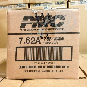 Picture of 7.62X39 PMC BRONZE 123 GRAIN FMJ (500 ROUNDS)