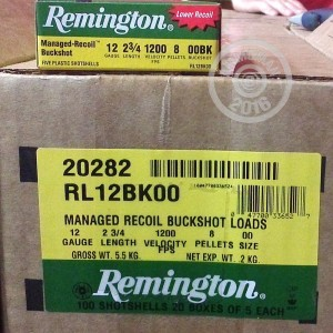 "Picture of 12 GAUGE REMINGTON MANAGED RECOIL 2 3/4"" 00 BUCKSHOT (100 ROUNDS)"