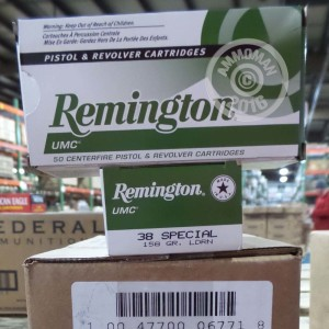 Picture of 38 SPECIAL REMINGTON UMC 158 GRAIN LRN (50 ROUNDS)