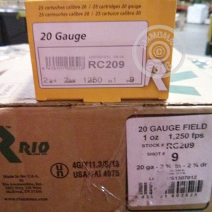 """Picture of 20 GAUGE RIO GAME 2-3/4"""" #9 (25 SHELLS)"""