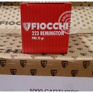 Picture of 223 REMINGTON FIOCCHI SHOOTING DYNAMICS 55 GRAIN FMJ (50 ROUNDS)