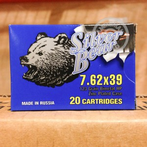 Picture of 7.62X39 SILVER BEAR 123 GRAIN HP (500 ROUNDS)