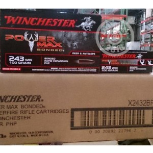 Picture of 243 WIN WINCHESTER POWER MAX BONDED 100 GRAIN HP (20 ROUNDS)