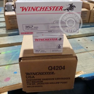 Picture of 357 MAGNUM WINCHESTER 110 GRAIN JHP (50 ROUNDS)