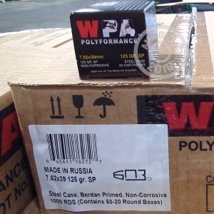 Picture of 7.62X39 WOLF POLYFORMANCE 125 GRAIN SP (20 ROUNDS)