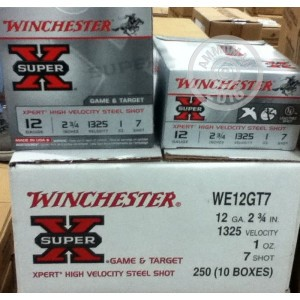 "Picture of 12 GAUGE WINCHESTER SUPER-X 2-3/4"" #7 STEEL SHOT (25 ROUNDS)"
