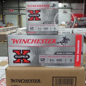 "Picture of 12 GAUGE WINCHESTER SUPER-X XPERT HIGH VELOCITY 2-3/4"" 1 OZ. #6 SHOT (100 ROUNDS)"