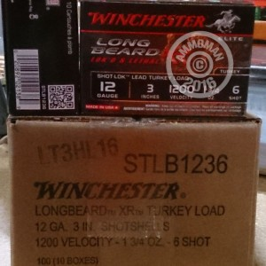 "Picture of 12 GAUGE WINCHESTER LONG BEARD XR 3"" #6 LEAD SHOT TURKEY LOAD (10 ROUNDS)"