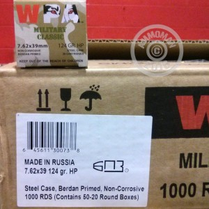 Picture of 7.62X39 WOLF WPA 124 GRAIN HP (20 ROUNDS)