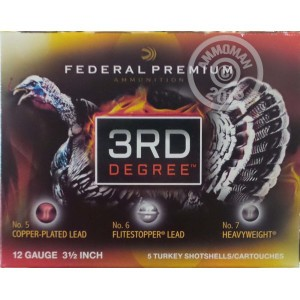 """Picture of 12 GAUGE FEDERAL 3RD DEGREE 3 1/2"""" 2 OZ. #5/6/7 SHOT (5 ROUNDS)"""
