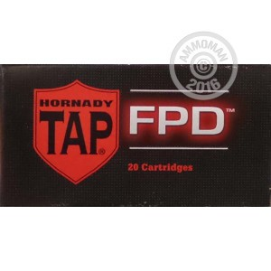 Picture of 223 Rem - 75 Grain JHP TAP FPD - Hornady - 20 Rounds