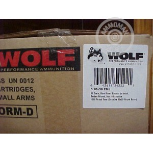 Picture of 5.45X39MM WOLF 60 GRAIN FULL METAL JACKET (1000 ROUNDS)