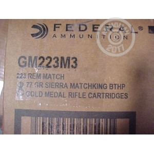 Picture of .223 FEDERAL MATCH 77 GRAIN #GM223M3 (200 ROUNDS)