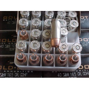 Picture of .40 S&W SPEER FACTORY NEW GOLD DOT HP 165 GRAIN #53970 (1000 ROUNDS)