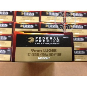 Picture of 9MM FEDERAL HYDRA-SHOK 147 GRAIN JHP (1000 ROUNDS)