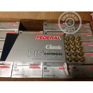 Picture of 40 S/W FEDERAL 180 GRAIN HI-SHOCK JHP #40SWA (1000 ROUNDS)
