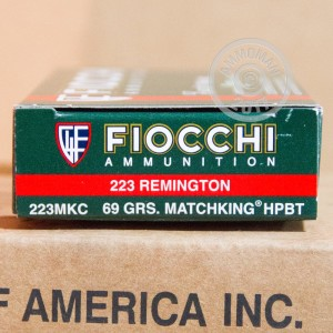 Picture of 223 REMINGTON FIOCCHI MATCHKING 69 GRAIN BTHP (20 ROUNDS)