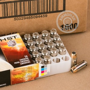 A photograph of 50 rounds of 180 grain .40 Smith & Wesson ammo with a JHP bullet for sale.