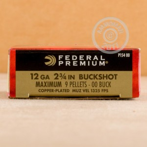 "Picture of 12 GAUGE FEDERAL VITAL-SHOK 2-3/4"" 00 BUCK (5 ROUNDS)"