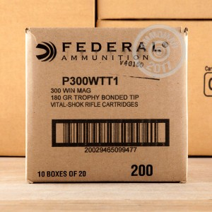 Picture of 300 WIN MAG FEDERAL VITAL-SHOK 180 GRAIN TROPHY BONDED POLYMER TIP (20 ROUNDS)