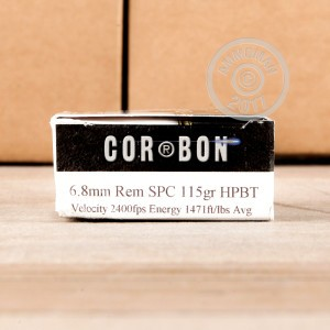 Picture of 6.8 SPC CORBON PERFORMANCE MATCH 115 GRAIN HPBT (20 ROUNDS)