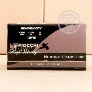 Great ammo for heavy game hunting, hunting turkey, upland bird hunting, these Fiocchi rounds are for sale now at AmmoMan.com.