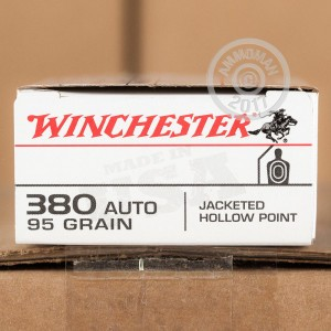 Picture of 380 ACP WINCHESTER 95 GRAIN JHP (50 ROUNDS)