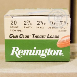 "Picture of 20 GAUGE 2 3/4"" REMINGTON 7/8OZ #7.5 LEAD (250 ROUNDS)"