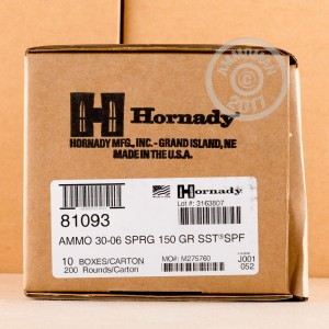 Picture of 30-06 SPRINGFIELD HORNADY SUPERFORMANCE SST 150 GRAIN PT (20 ROUNDS)