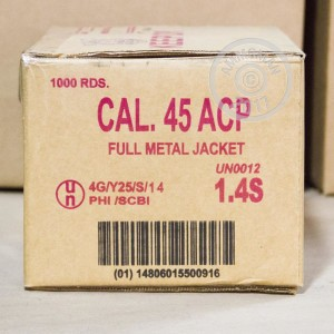 Picture of 45 ACP ARMSCOR 230 GRAIN FMJ (1000 ROUNDS)
