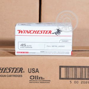Picture of 45 ACP WINCHESTER 230 GRAIN FMJ (500 ROUNDS)