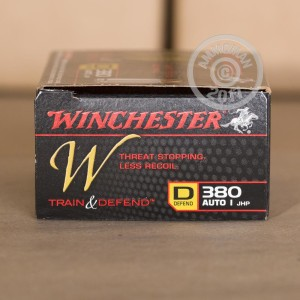 Picture of 380 ACP WINCHESTER W TRAIN AND DEFEND 95 GRAIN JHP (200 ROUNDS)