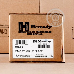 Picture of 308 WIN HORNADY SST 150 GRAIN PT (20 ROUNDS)