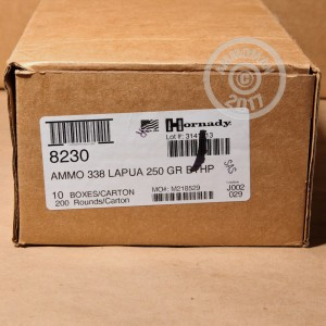 Picture of 338 LAPUA MAGNUM HORNADY MATCH 250 GRAIN HPBT (20 ROUNDS)