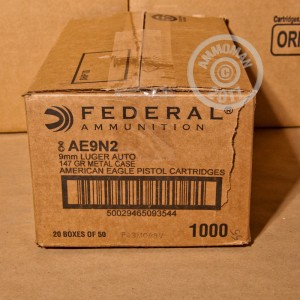 Picture of 9MM FEDERAL 147 GRAIN TOTAL METAL JACKET (1000 ROUNDS)