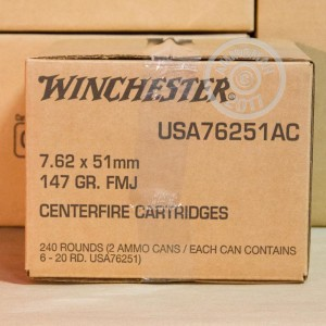 Image of Winchester 308 / 7.62x51 bulk rifle ammunition.