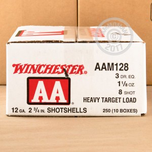 "Picture of 12 GAUGE WINCHESTER AA 2 3/4"" 1 1/8 OZ #8 LEAD SHOT HEAVY TARGET LOAD (25 ROUNDS)"