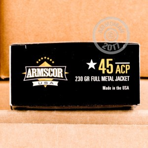 Picture of 45 ACP ARMSCOR USA 230 GRAIN FMJ (50 ROUNDS)
