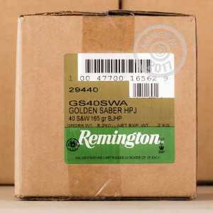 Picture of 40 S&W REMINGTON GOLDEN SABER 165 GRAIN JHP (25 ROUNDS)