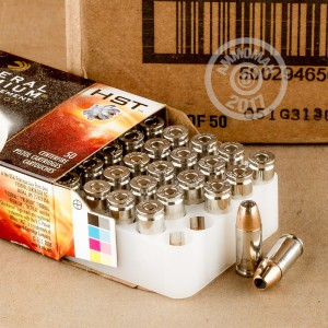 Picture of 9MM LUGER +P FEDERAL PREMIUM LAW ENFORCEMENT HST 124 GRAIN JHP (1000 Rounds)