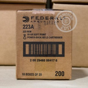 Picture of .223 REM FEDERAL POWER-SHOK 55 GRAIN SP (20 ROUNDS)